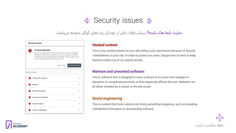 رفع جریمه سایت و هک شدن آن از طریق گوگل وبمستر تولز