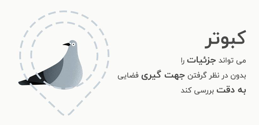 الگوریتم کبوتر می تواند جزئیات را بدون در نظر گرفتن جهت گیری فضایی به دقت بررسی کند