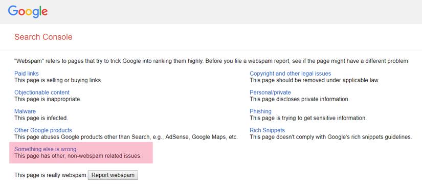 گزارش تکنیک های سئو کلاه سیاه به گوگل