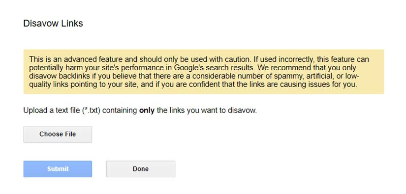 استفاده از ابزار Disavow برای معرفی لینک های مخرب به گوگل