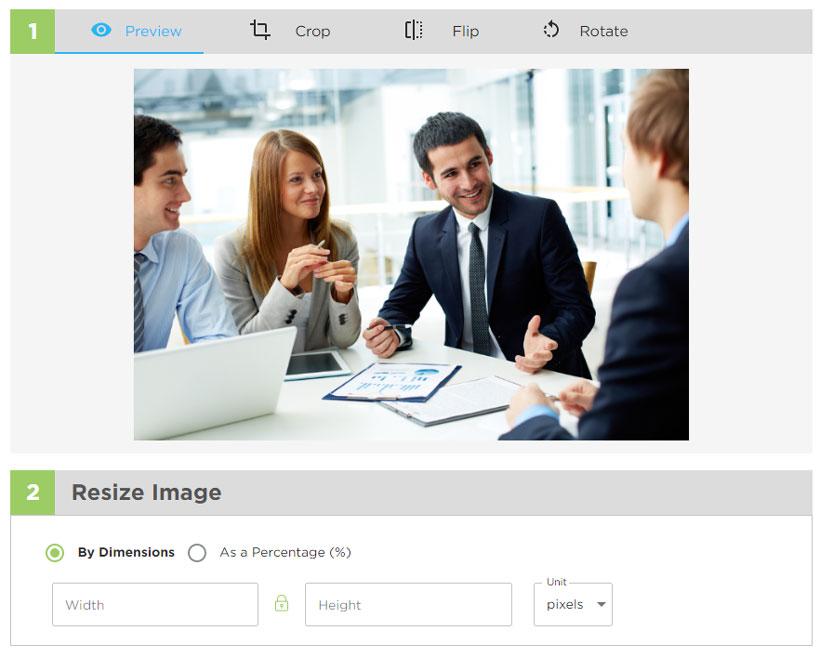 تغییر سایز عکس به صورت آنلاین